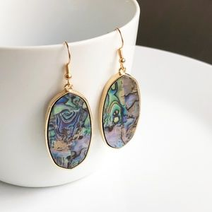Jewelry - NEW Abalone Shell Oval Earrings